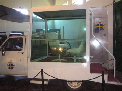 The Popemobile used for John Paul's 1982 visit