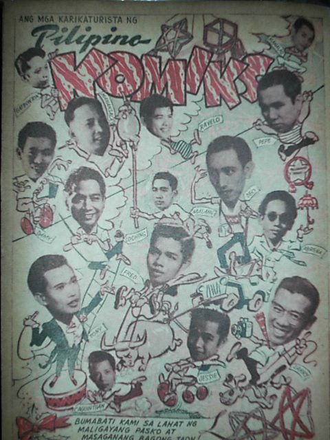 Here is an all-star caricature of the pioneer cartoonists of Pilipino