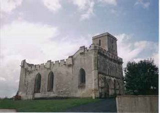 A church with battlements