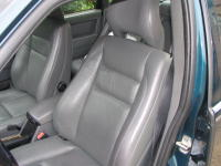 The leather interior