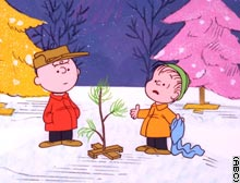 Lucy said, 'Get the biggest aluminum tree you can find, Charlie Brown!'