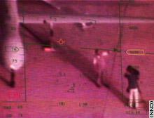 CNN image: reporter Sadler in sights of Predator drone