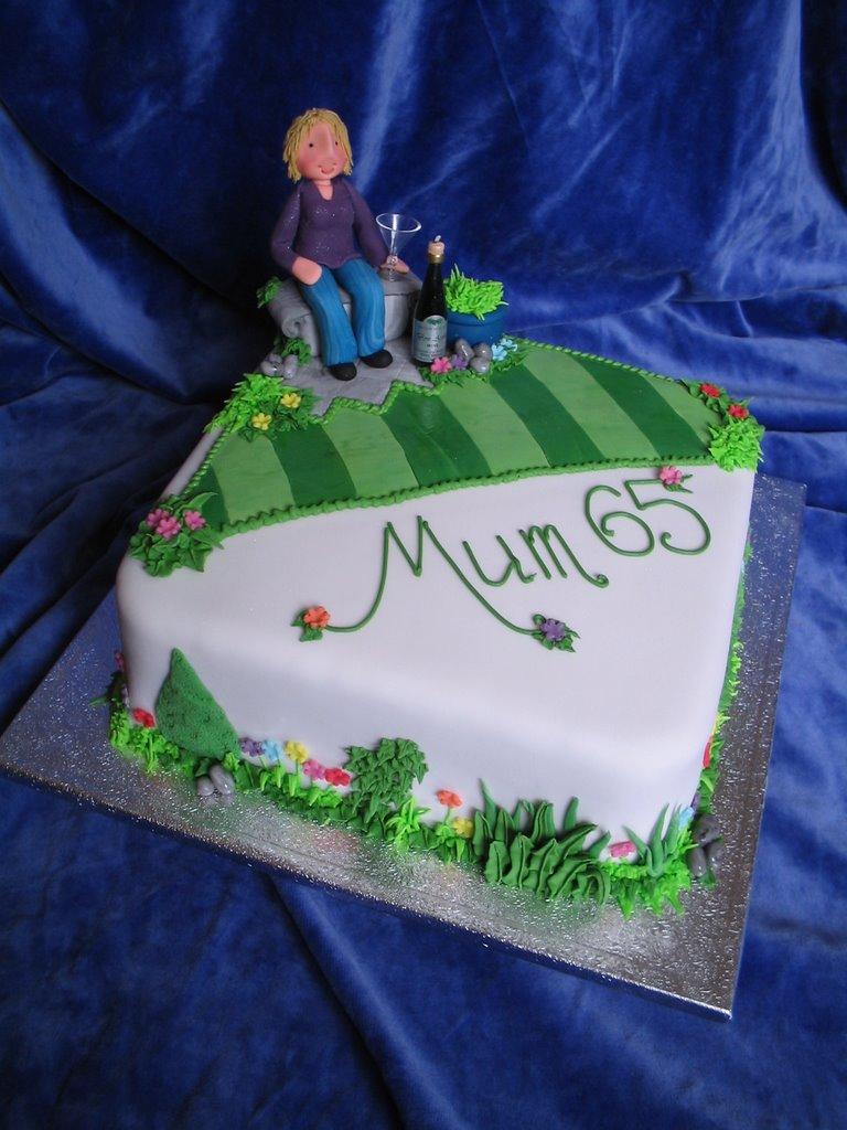My cakes various garden theme cakes for Gardening 80th birthday cake