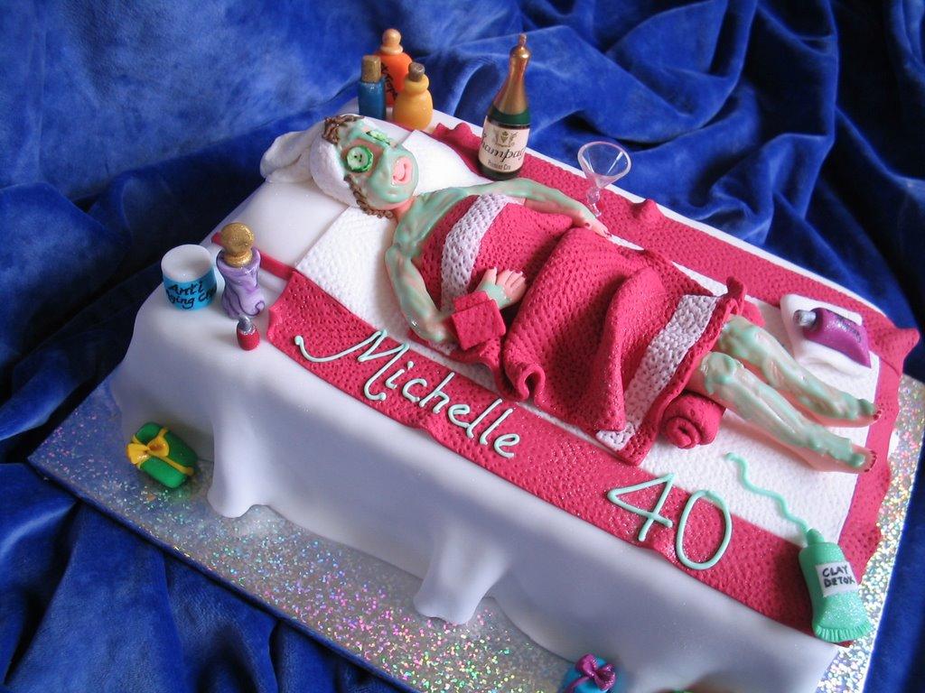 My Cakes Michelles 40th Birthday Cake Spa