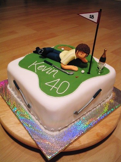 My Cakes Kevins 40th Golf theme Birthday cake