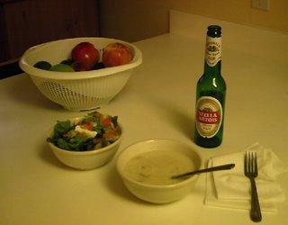una de las únicas cenas hechas en casa