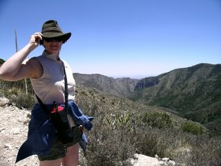 Megan in wind on McKittrick Ridge