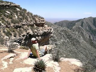 Mike looking over McKittrick Canyon