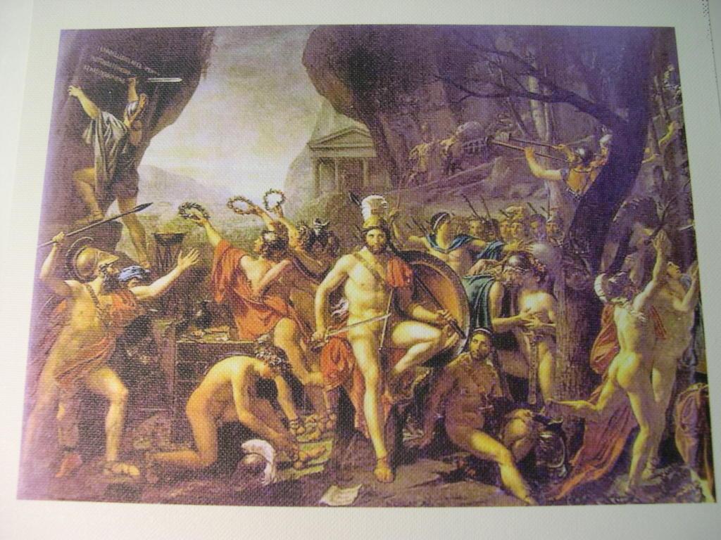 Jacques-Louis David's 'Leonidas at Thermopylae ...