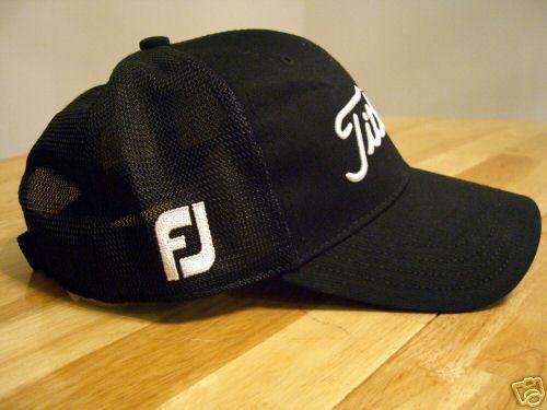 ijydehmanshop  New Titleist Mesh Trucker Hat Cap -FJ Black fcc4d0cf280