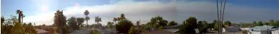 A quick and dirty panorama of the smoke trail coming off of the 'Buck' fire