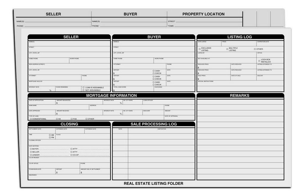 real estate listing folders. Black Bedroom Furniture Sets. Home Design Ideas