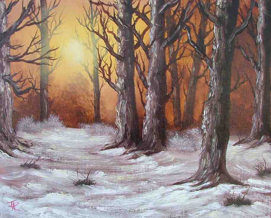 This Is Terris Version Of The Bob Ross Painting Rustic Winter Woods Series 27 Joy With We Will Be Teaching