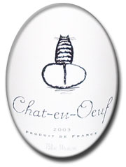 Chat-en-Oeuf label
