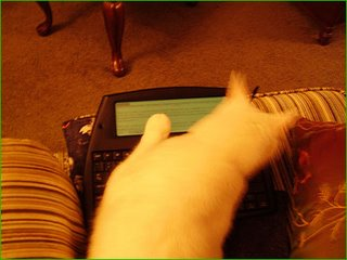 Sam checks out the AlphaSmart