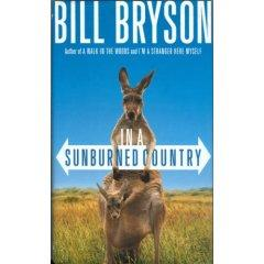 this is the cover of Bill Bryson's book, In a Sunburned Country