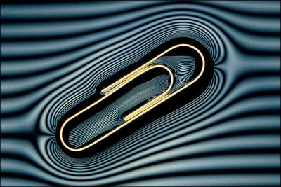 Image: Paper clip floating on water