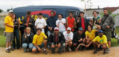 Galera que participou do 1° Desafio Paulista de Bumerangue, organizado pela Bahadara