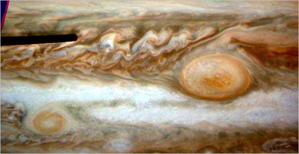Two Red Spots on Jupiter