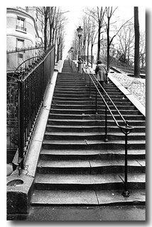 Montmartre Steps - Rue Foyatier, Paris 1977