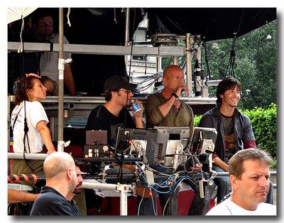 Maggie Q, Len Wiseman, Bruce Willis, Justin Long