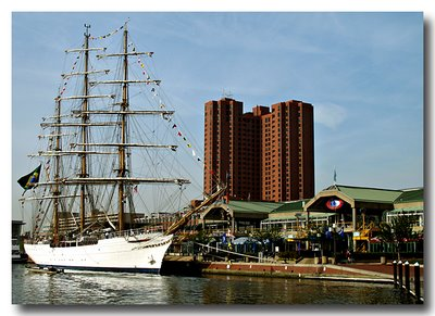 Brazil Navy Ship Cisne Branco in Baltimore Harbor