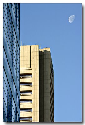 Moonrise Over Legg-Mason, Baltimore