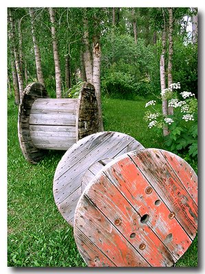 Cable Spools & Aspens - Steamboat Springs, CO   Canon A40