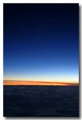 Sunset at 30,000 feet