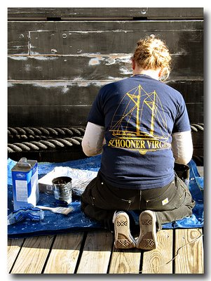 Hard at work - Schooner Virginia