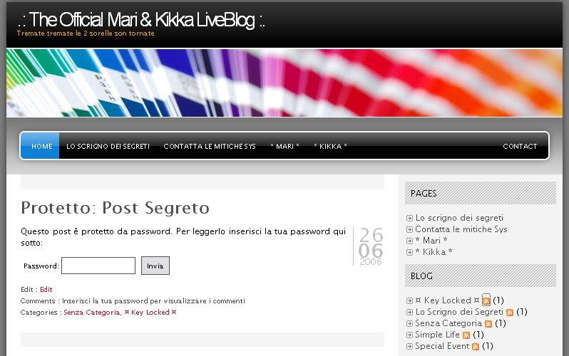 The official mari kikka liveblog for Oh mia cabina forgia il piccione
