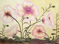 Summer Poppies Original on canvas board by Impressionist Artist Kimberley T. Walton