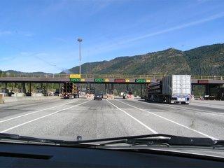 Пропускной пункт на платном шоссе