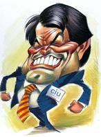 Caricatura de Vizcarra, anar a la web