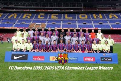 Plantilla del F.C.Barcelona 2006