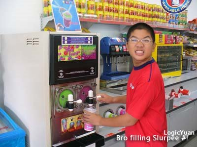 Brother filling slurpee