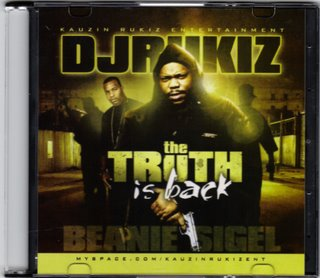 Cover: DJ Rukiz Presents - Beanie Sigel The Truth Is Back