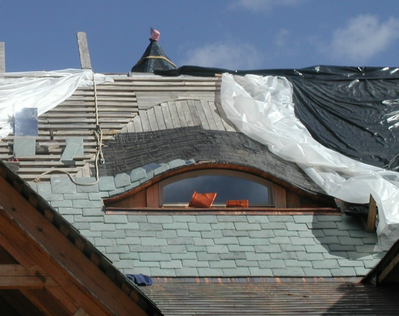 Building A Timberframe Home From Scratch Eyebrow Dormer