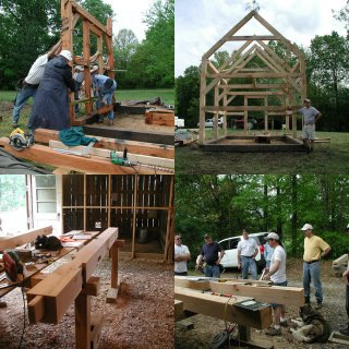 Building a timberframe home from scratch april 2004 for Cost to build a house from scratch