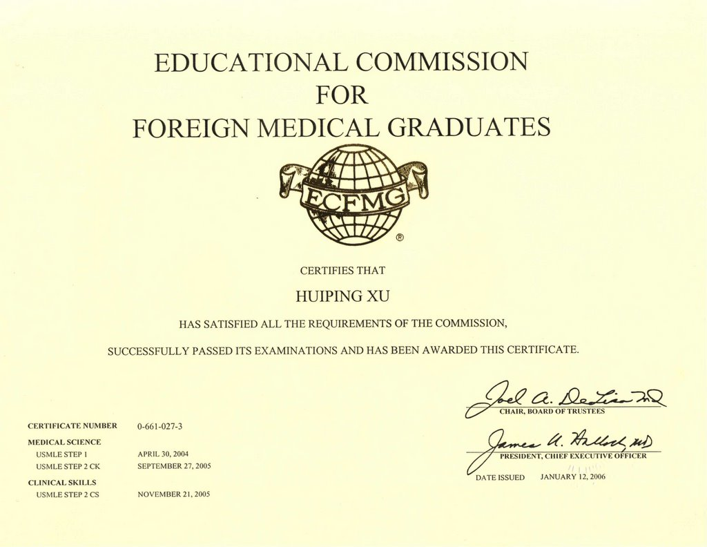 Im residency candidate certification ecfmg certificate 1betcityfo Images