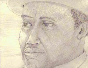 Drawing of Willie Dixon copyright 2005 by Kenny Boone
