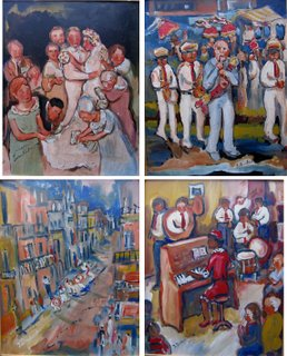click to see a larger view of these paintings...