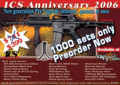 Airsoft AEG ICS M4 Anniversary Package