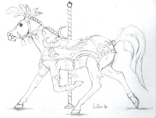Horse Sitting Drawing Not Really Sure i Like How The