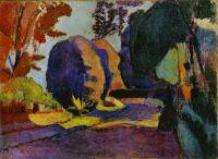 Henri Matisse - Luxembourg Gardens (c1900)