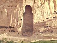 Empty shell where the Bamiyan Buddha stood