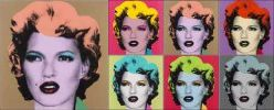 Banksy - Kate Moss in the style of Andy Warhol's Marilyn Monroe series