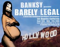 Banksy - Barely Legal notice