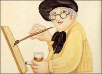 Beryl Cook OBE - Self-portrait