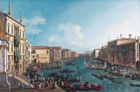 Canaletto - A Regatta on the Grand Canal (c1740)